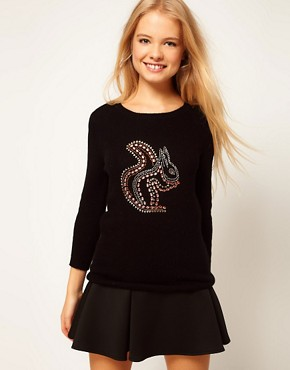 Image 1 ofASOS Studded Squirrel Jumper