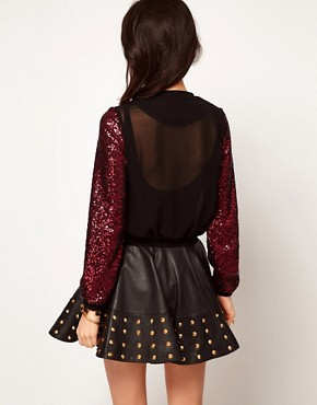 Image 2 ofASOS Sequin Bomber Jacket