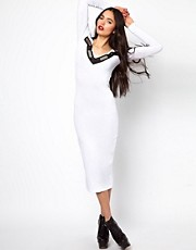 The Ragged Priest Midi Dress with Mirror Plate