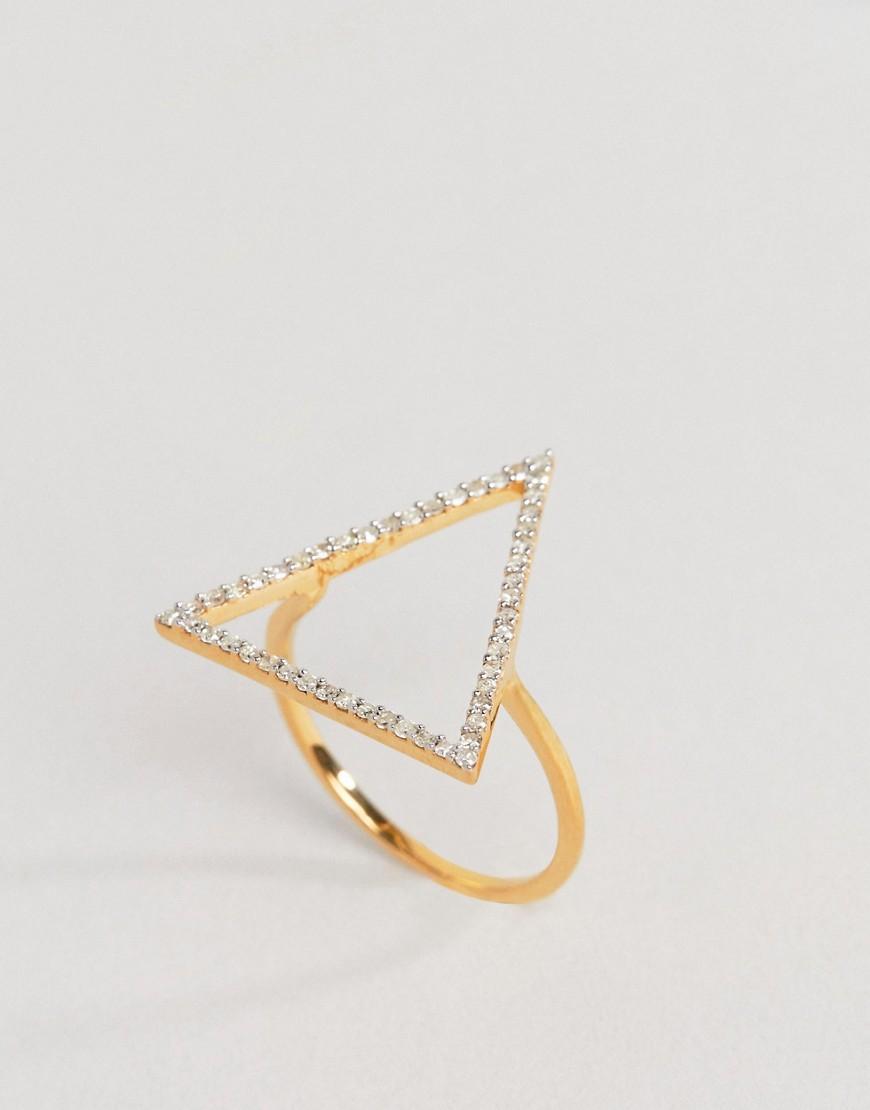 Кольцо с треугольным элементом и бриллиантами Carrie Elizabeth