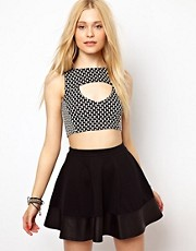 River Island Jacquard Crop Top