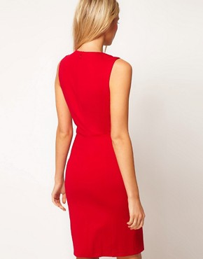 Image 2 ofTed Baker Embellished Collar Dress