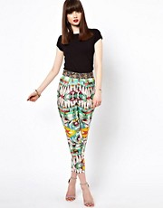 Eleven Paris Aztec Peg Pants with Embellished Waistband