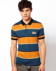 Lacoste Live Polo Shirt with Ethnic Crocodile