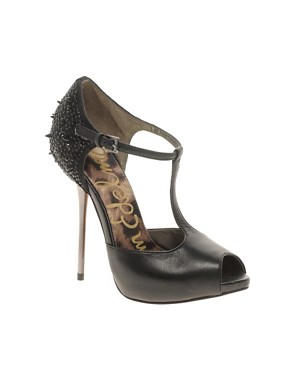 Image 1 ofSam Edelman Scarlett T Bar Stud Shoes