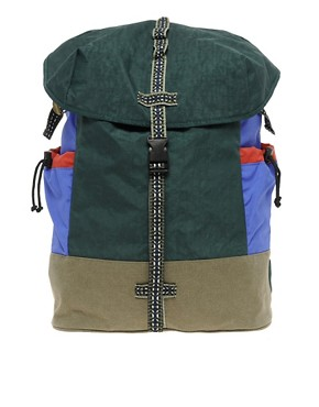 Bild 1 von ASOS   Rucksack mit Farbblock und Aztekenmuster