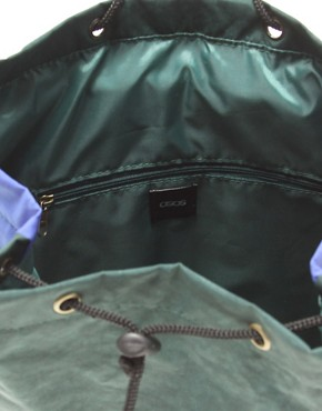 Bild 2 von ASOS   Rucksack mit Farbblock und Aztekenmuster