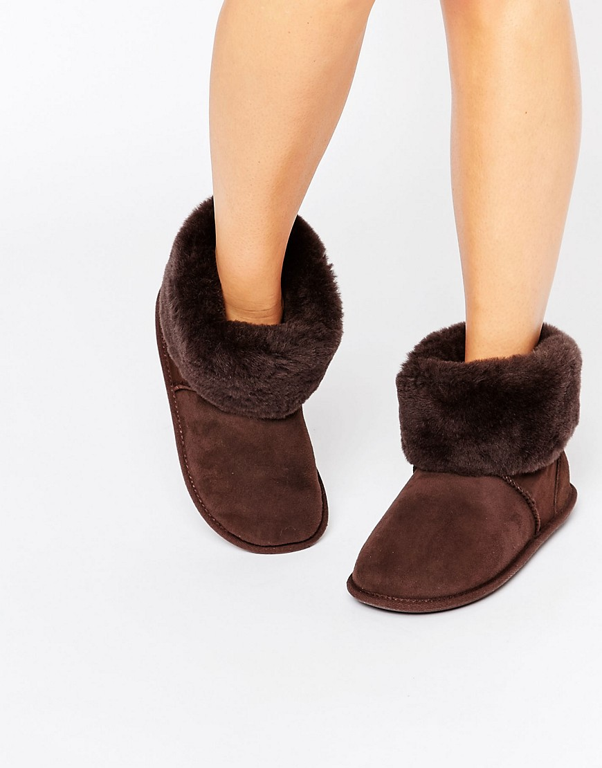 just-sheep-skin-roll-over-slipper-boots-brown