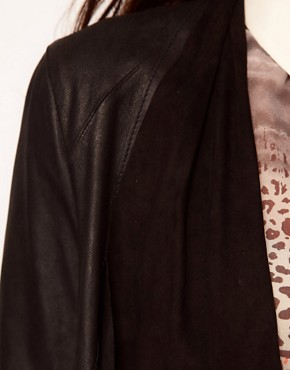 Image 3 ofWarehouse Soft Drape Leather Jacket