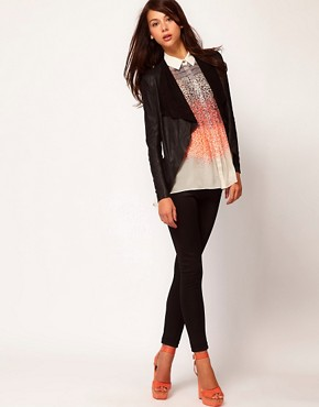 Image 4 ofWarehouse Soft Drape Leather Jacket