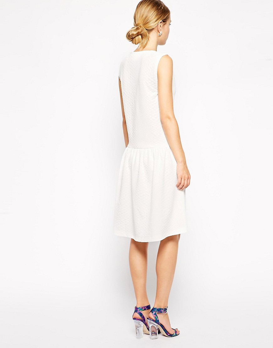 Image 2 of ASOS Shift Dress in texture with Drop Waist