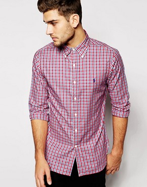 Polo Ralph Lauren Shirt in Slim Fit Oxford Check