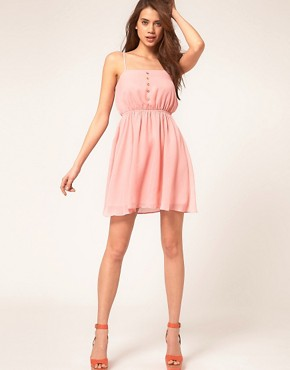 Image 4 ofASOS Strappy Dress With Skater Skirt
