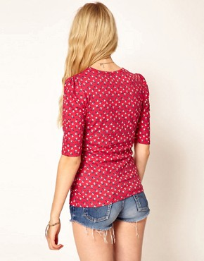 Image 2 ofA Wear Cherry Print Top