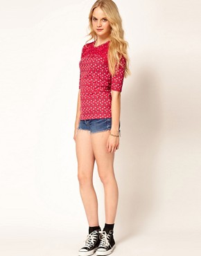 Image 4 ofA Wear Cherry Print Top