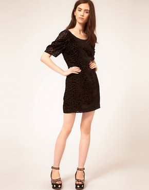 Image 4 ofDress Gallery Velvet Leopard Dress