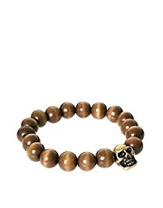 ASOS Bead And Skull Bracelet