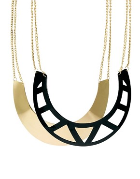 Image 1 ofASOS Pack of Two Cut Out Torque Necklaces