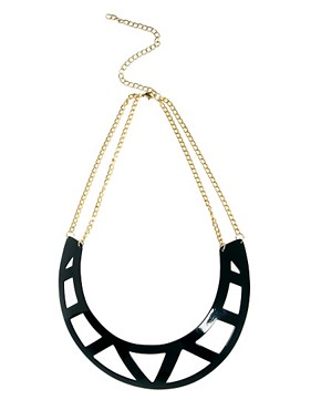 Image 2 ofASOS Pack of Two Cut Out Torque Necklaces