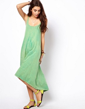 Image 1 of ASOS Midi Sundress With High Low Hem And Strap Detail