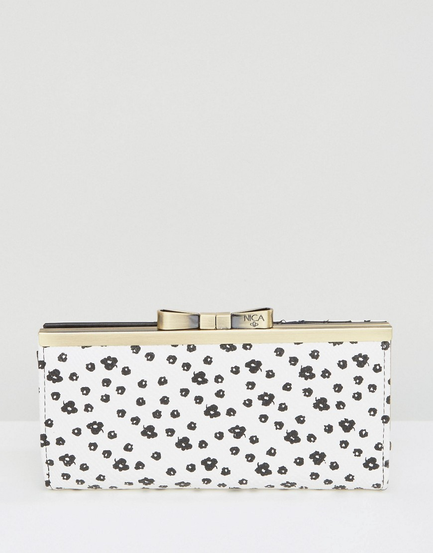 Nica Printed Purse - White