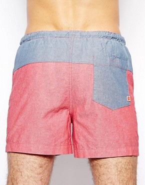 Image 2 ofRiver Island Chambray Swim Shorts