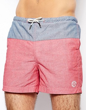 Image 1 ofRiver Island Chambray Swim Shorts