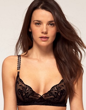 Stella McCartney Florence Acting Flocked Soft Cup Bra