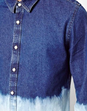 Image 3 of ASOS Denim Shirt With Dip Dye