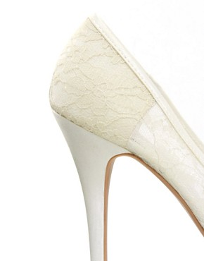 Image 2 ofNew Look Veil Lace Court Shoes