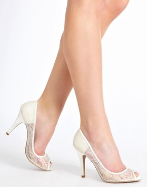 Image 3 ofNew Look Veil Lace Court Shoes