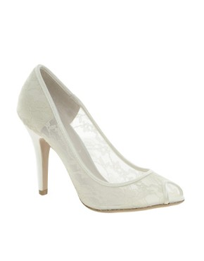 Image 1 ofNew Look Veil Lace Court Shoes