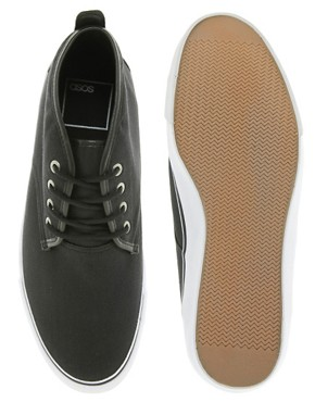 Image 2 ofASOS Chukka Boots in Canvas