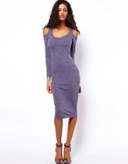 ASOS Bodycon Dress in Nepi with Cold Shoulder