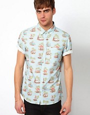 River Island Surf Print Shirt