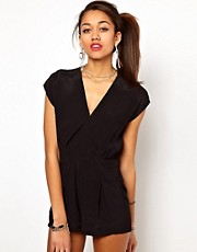 Motel Janna Playsuit with Deep V Plunge