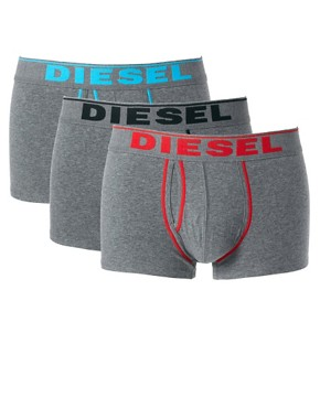 Image 1 of Diesel Contrast Logo 3 Pack Trunks