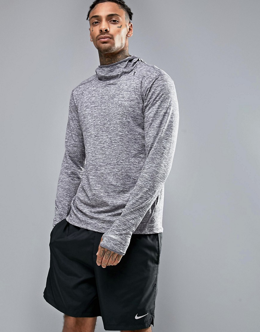 Nike Running Dri-FIT Element Hoodie In Grey 803877-021 - Grey