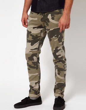 Image 1 ofASOS Skinny Chino In Camo