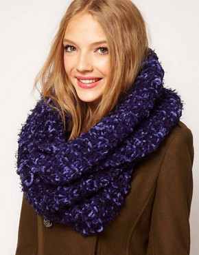ASOS Two Toned Textured Snood :  snood accessory scarf winter
