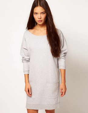 Image 1 ofPeople Tree Organic Cotton Sweatshirt Dress