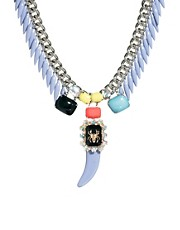ASOS Pastel Horn Necklace