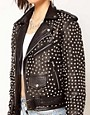 Image 3 ofBadlands Leather Extreme Studded Biker Jacket