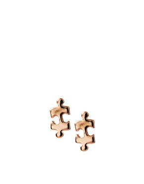Image 1 ofTed Baker Jigsaw Stud Earrings