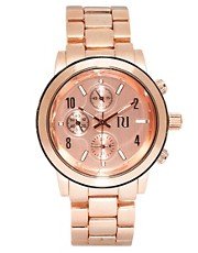 River Island Rose Gold Emily Chronograph Watch