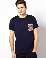 Voi T-Shirt With Check Pocket