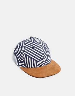 River Island Cap With All Over Print