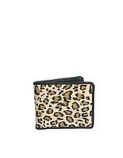 ASOS Wallet In Leopard Print