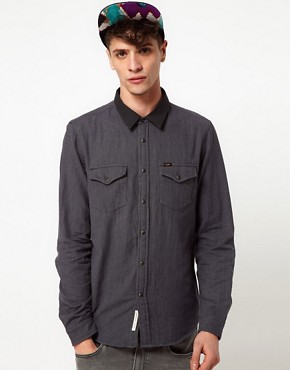 Image 1 ofLee Shirt Slim Fit Double Faced Mini Check