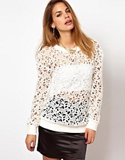 Glamorous Lace Sweatshirt